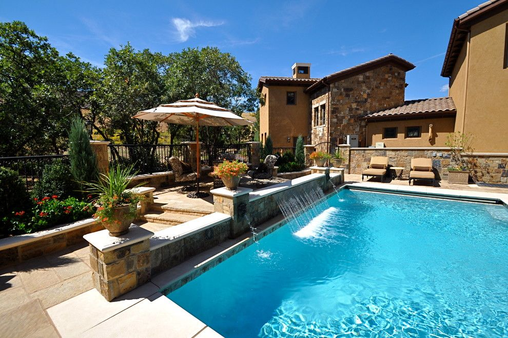 Ryland Homes Denver for a Traditional Pool with a Backyard Ideas and Swimming Pools by Browne and Associates Custom Landscapes