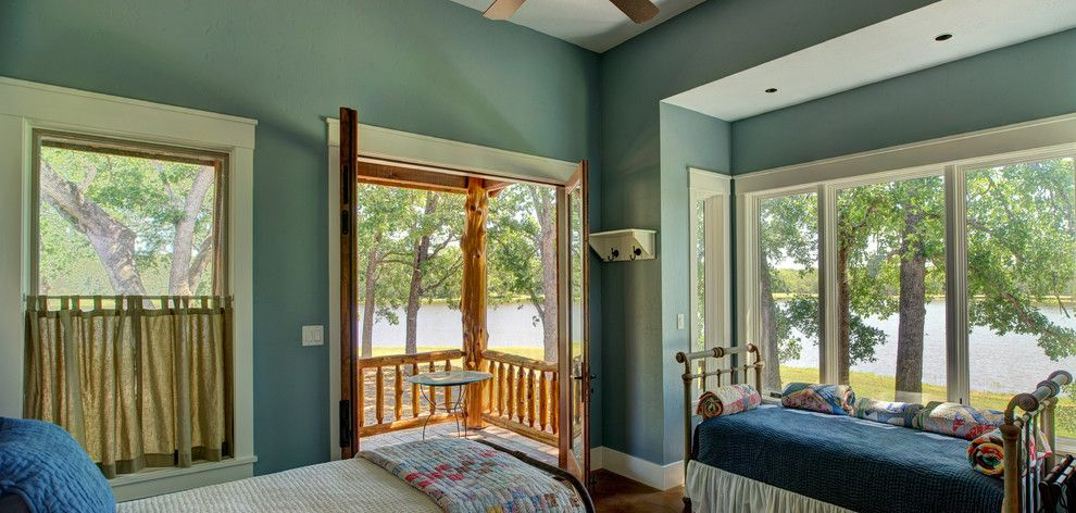 Ryland Homes Houston for a Rustic Bedroom with a Lakehouse and Ranch Style by the Lake by Ellis Custom Homes Llc