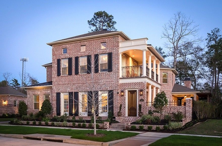 Ryland Homes Houston for a Traditional Exterior with a Columns and Carruthers Residence by Jamestown Estate Homes
