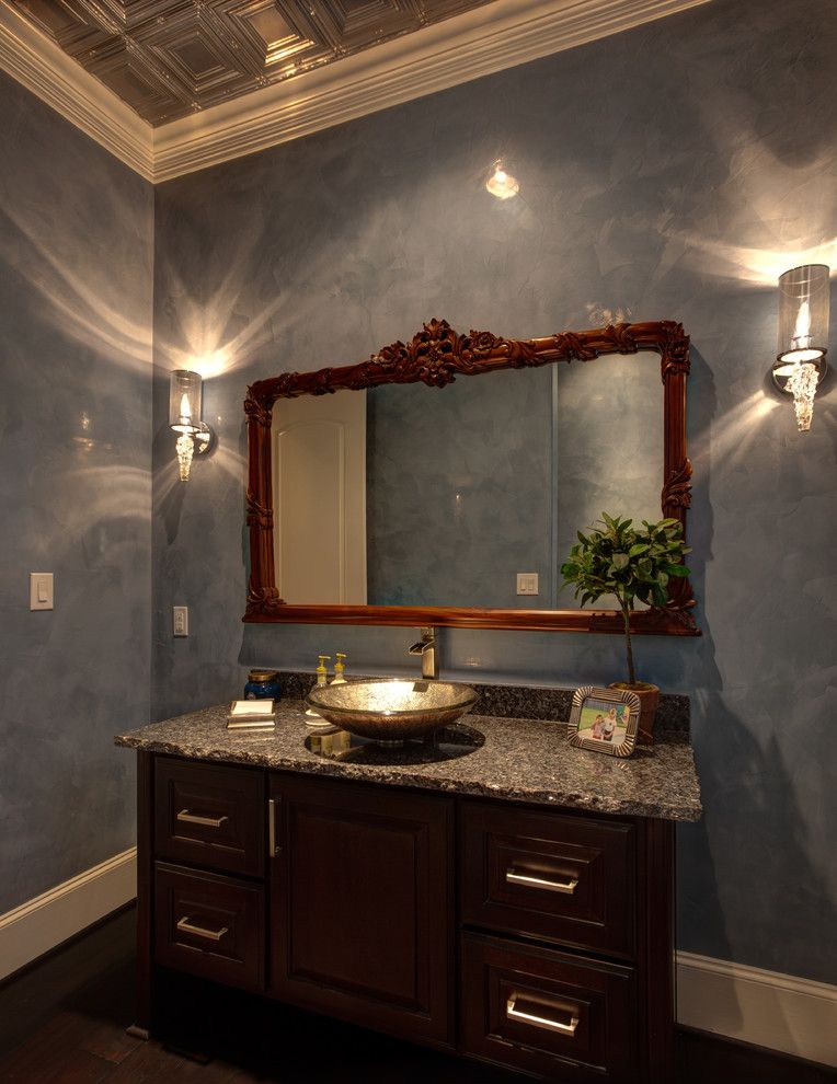 Ryland Homes Houston for a Traditional Powder Room with a Traditional and 3730 Drake by Frankel Building Group