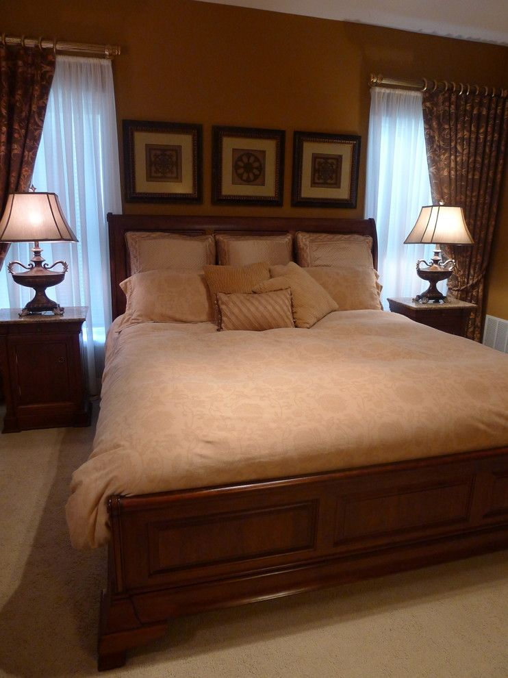 Ryland Homes Indianapolis for a Traditional Bedroom with a Master Bedroom and R by Susan Brook Interiors