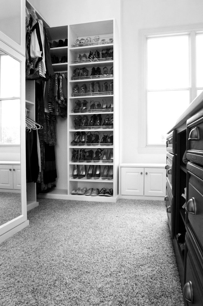 Ryland Homes Indianapolis for a Traditional Closet with a Traditional and Luxurious Walk in Closet by California Closets of Indianapolis