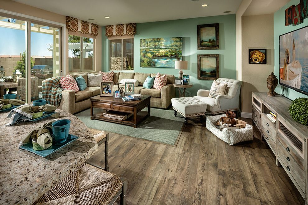 Ryland Homes Las Vegas for a Contemporary Family Room with a Home Builders and Pardee Homes Las Vegas   Summerglen by Pardee Homes