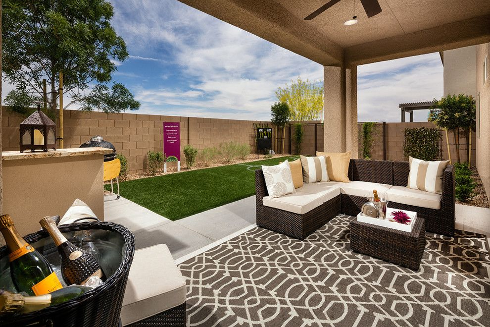 Ryland Homes Las Vegas for a Contemporary Patio with a Covered and Pardee Homes Las Vegas   Summerglen by Pardee Homes