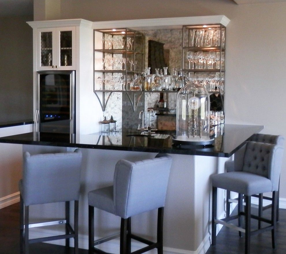 Ryland Homes Las Vegas for a Traditional Home Bar with a Wine Storage and Bar Remodel by Affirming Kitchen Clarity