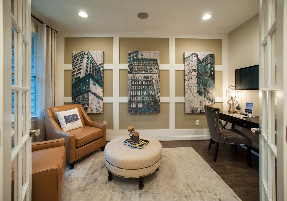 Saddlebrook Estates for a Contemporary Home Office with a Area Rug and W.b. Homes, Saddlebrook Estates   Office by Lita Dirks & Co.