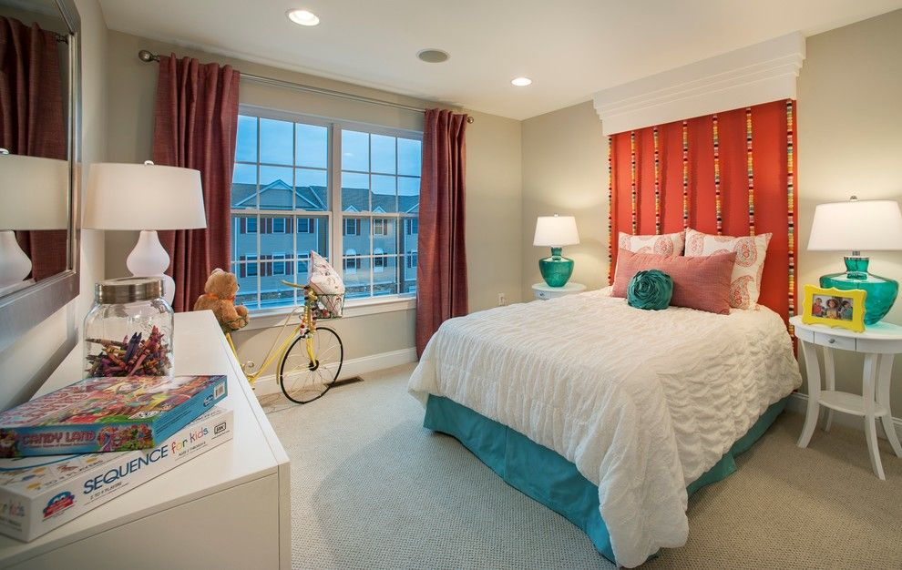 Saddlebrook Estates for a Eclectic Kids with a Bike and W.b. Homes, Saddlebrook Estates   Child's Room by Lita Dirks & Co.