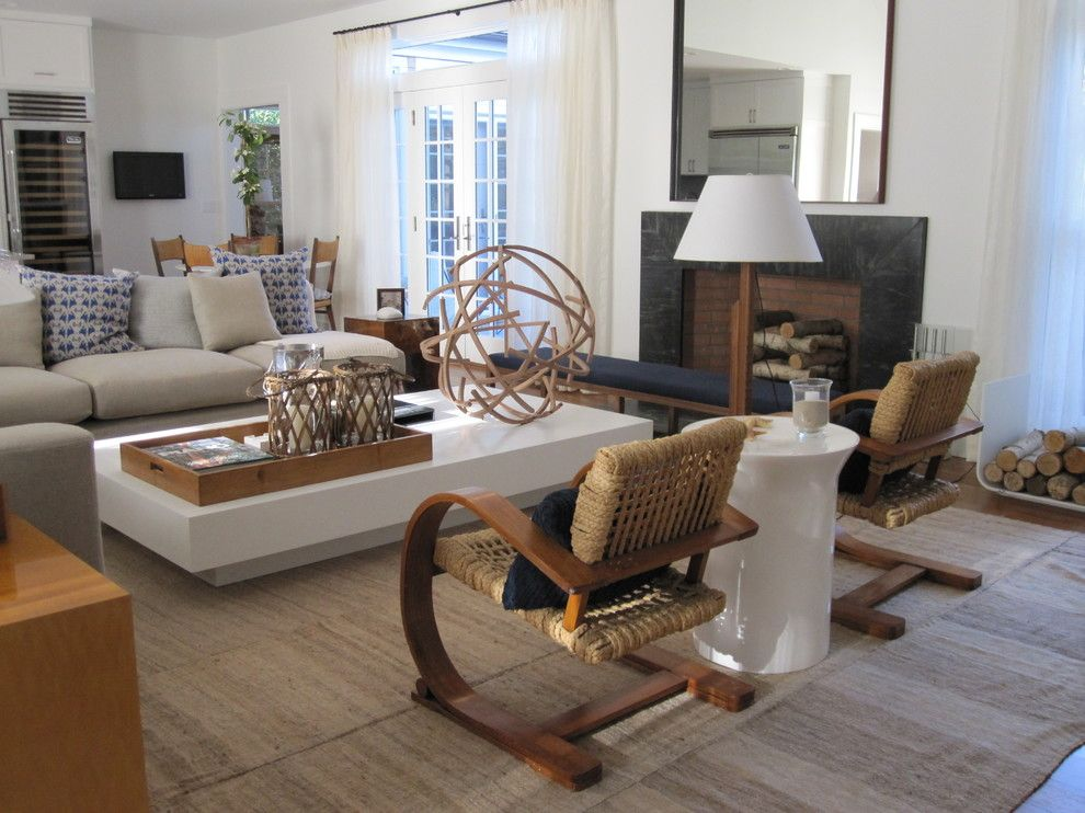 Sag Harbor Gym for a Beach Style Living Room with a Beach Style and Bridgehampton by Foley&cox