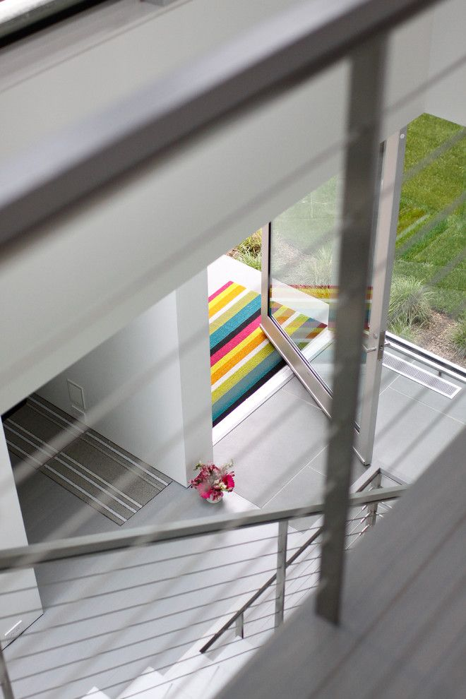 Sag Harbor Gym for a Contemporary Entry with a Stair and Sag Harbor Hideaway by Betty Wasserman