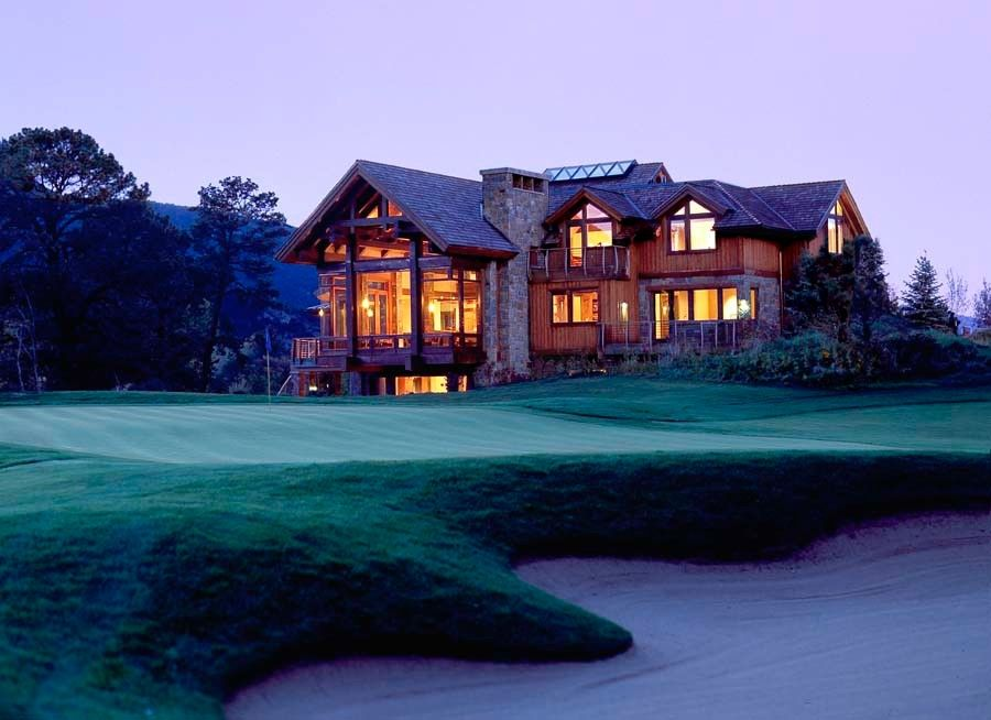 Sagamore Golf Course for a Rustic Exterior with a Wood Exterior and Aspen Golf Course House on the River by Bay Area Owner's Project Manager by Richard Wodehouse