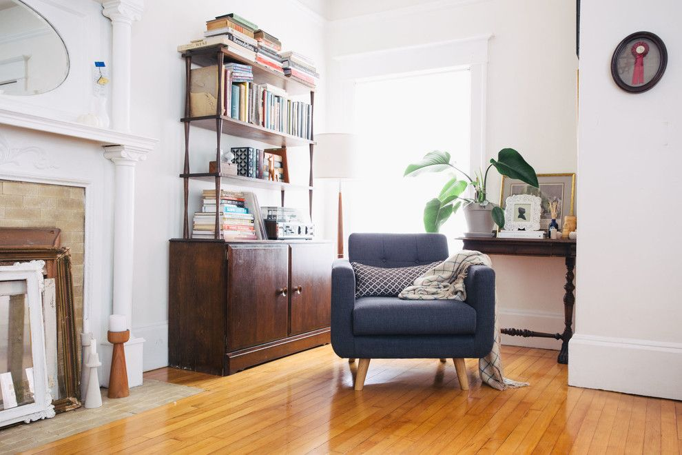 Salvation Army Syracuse for a Eclectic Living Room with a Mid Century and My Houzz: A Charming Apartment in the Mission by Nanette Wong