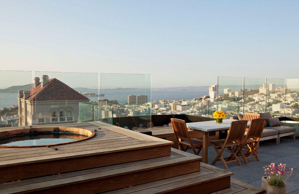 San Francisco Exploratorium for a Contemporary Deck with a Steps and Jackson Penthouse / Roof Deck, San Francisco by De Meza + Architecture