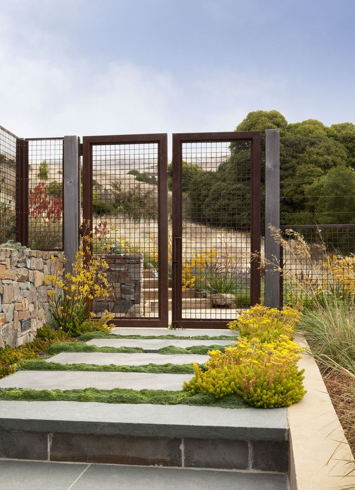 San Francisco Must See for a Beach Style Landscape with a San Francisco Bay and Tiburon Hillside by Arterra Landscape Architects