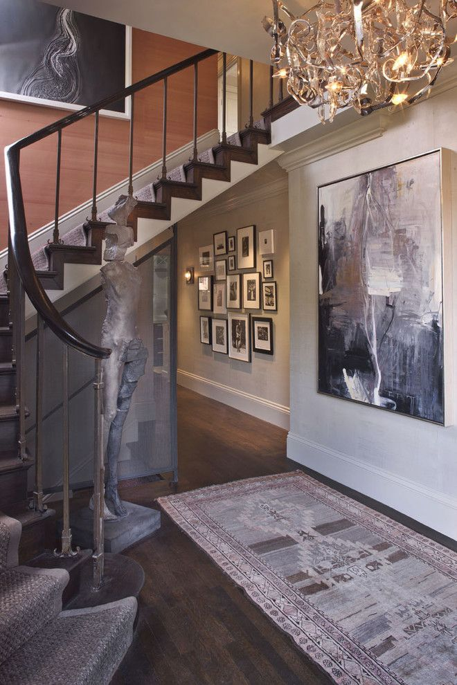 San Francisco Must See for a Contemporary Staircase with a Large Artwork and Elle Decor Showhouse 2010 by Kendall Wilkinson Design