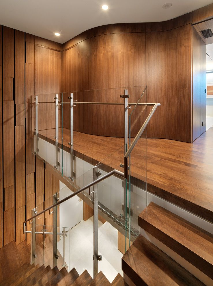San Francisco Points of Interest for a Modern Staircase with a Walnut and Market Street Penthouse Staircase by Winder Gibson Architects
