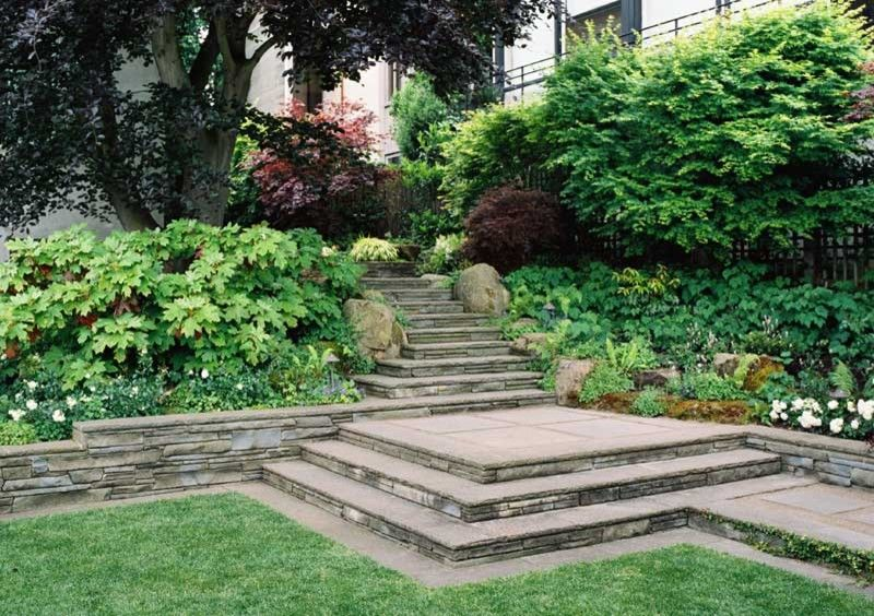 San Francisco Points of Interest for a Traditional Landscape with a Steps Wshrub Border and Ron Herman Landscape Architect by Ron Herman Landscape Architect