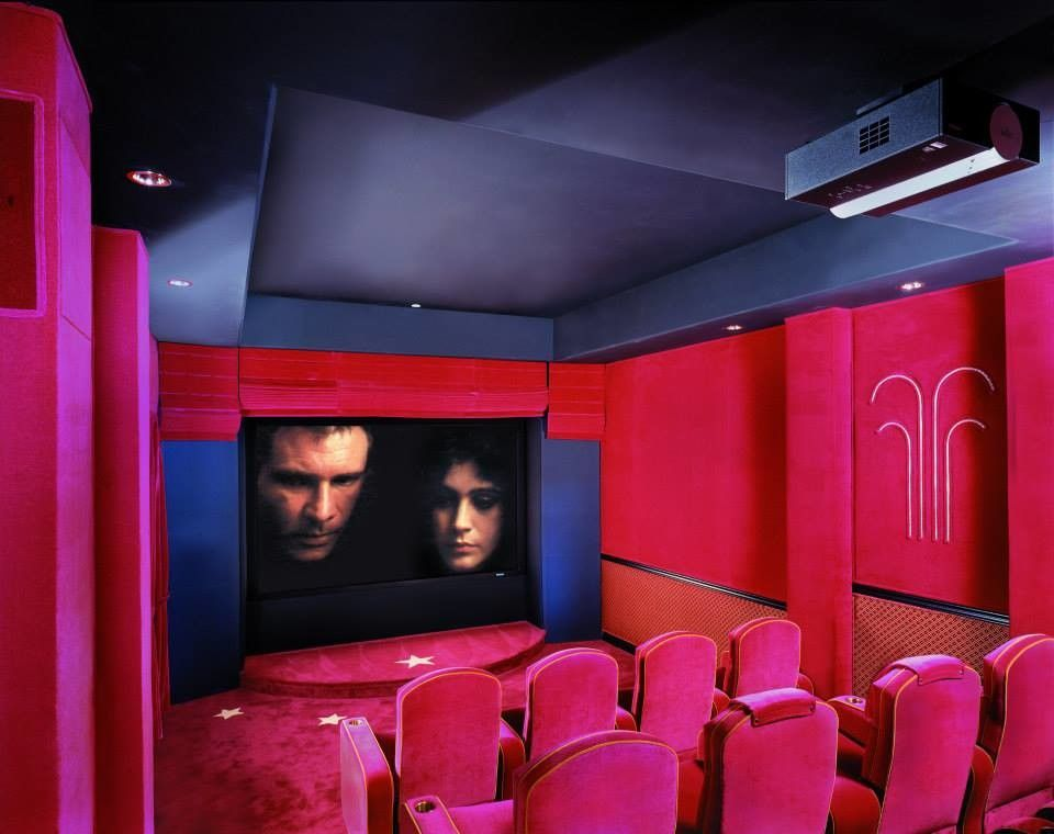 San Mateo Theater for a Modern Home Theater with a Home Media Design and Star Wars Theater Room by Modern Home Systems