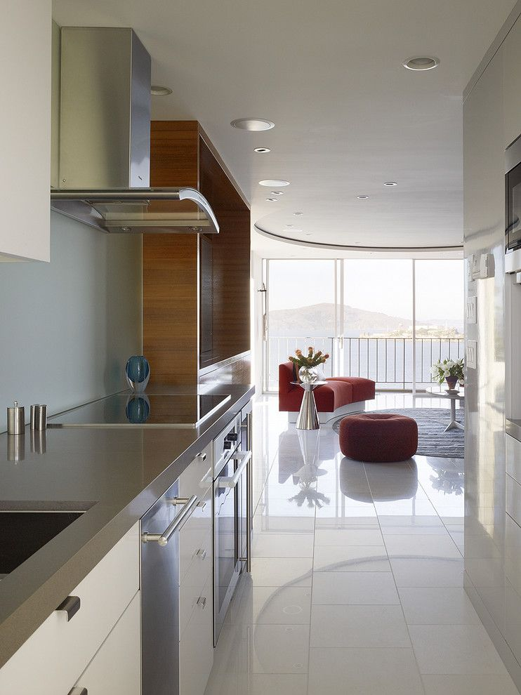 San Mateo Theater for a Modern Kitchen with a Stainless Steel Appliances and Fontana Interior by Mark English Architects, Aia