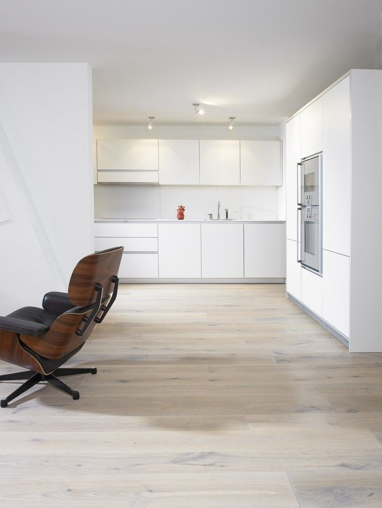 Sanded or Unsanded Grout for a Modern Kitchen with a Light Wood Floors and Minimalist Kitchen by Element 7