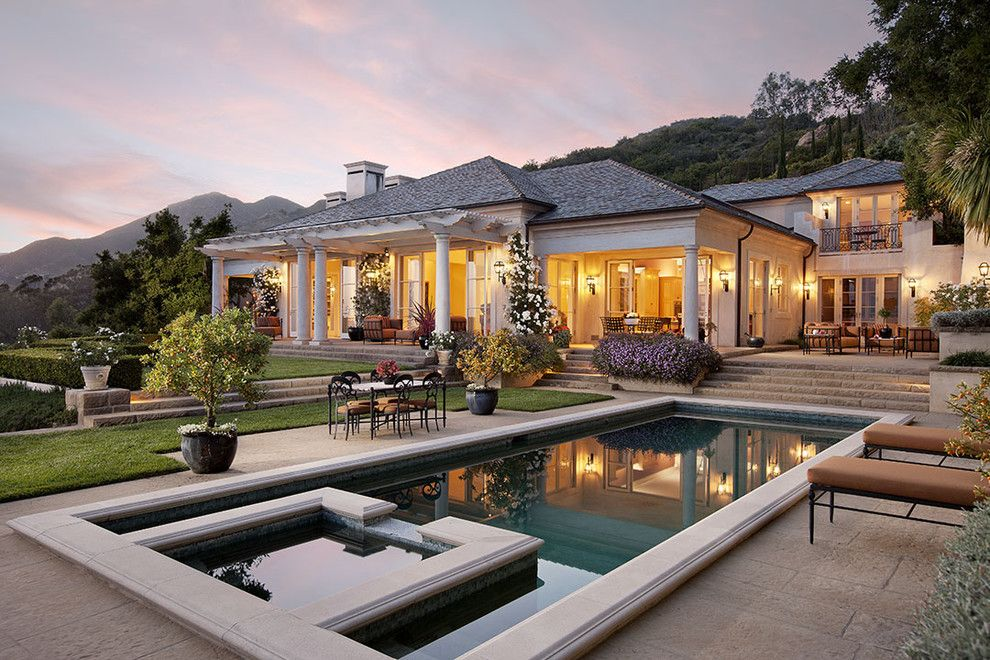 Santa Barbara Back Page for a Traditional Exterior with a Pool and Montecito Traditional by Dd Ford Construction