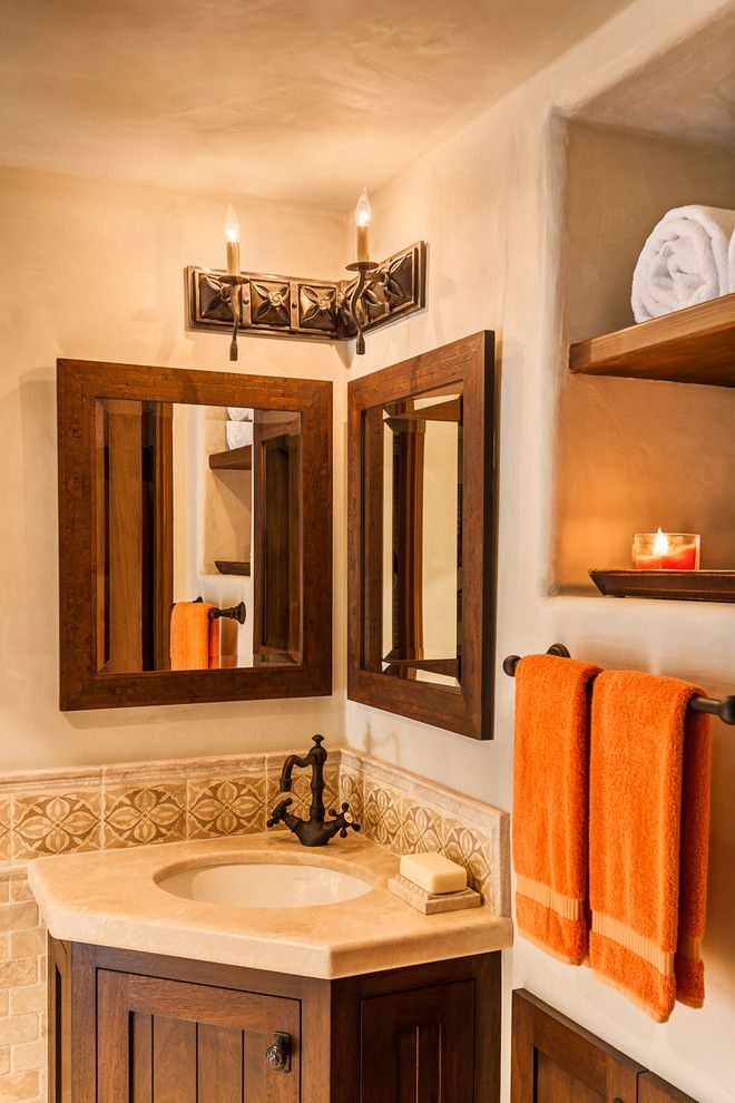 Santa Barbara Presidio for a Mediterranean Bathroom with a Metal and Arbolado by Santa Barbara Forge and Iron