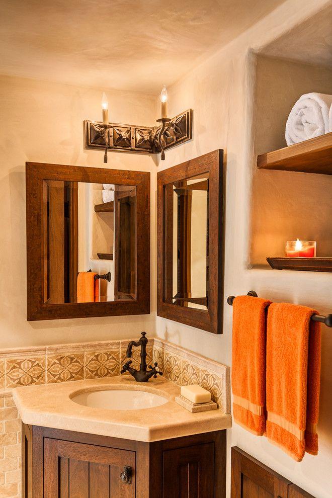 Santa Barbara Presidio for a Mediterranean Bathroom with a Metal and Arbolado by Santa Barbara Forge and Iron