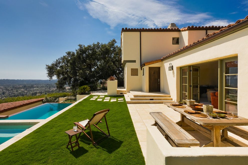 Santa Barbara Presidio for a Mediterranean Patio with a Clay Tile Roof and Mediterranean Patio by Abdesignstudioinc.com