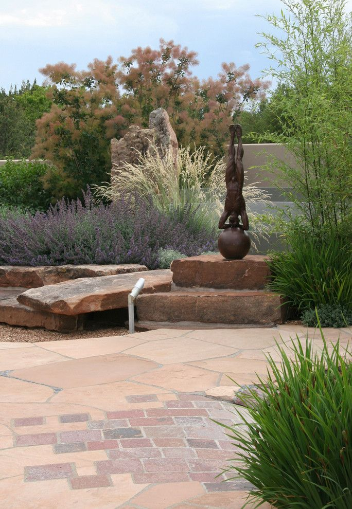 Santa Fe Botanical Garden for a Contemporary Landscape with a Flagstone and Contemporary Sculpture Garden by Clemens & Associates Inc.