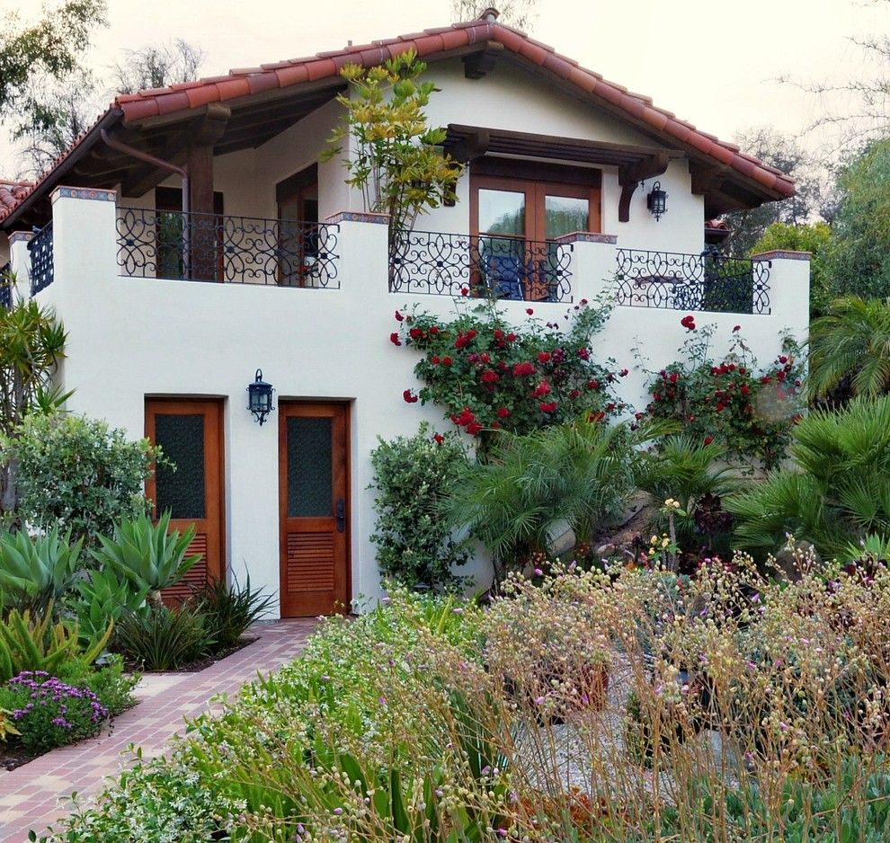 Santa Fe Botanical Garden for a Mediterranean Exterior with a Award Winning Design and Rancho Santa Fe Spanish Colonial by Torrey Pines Landscape Co., Inc