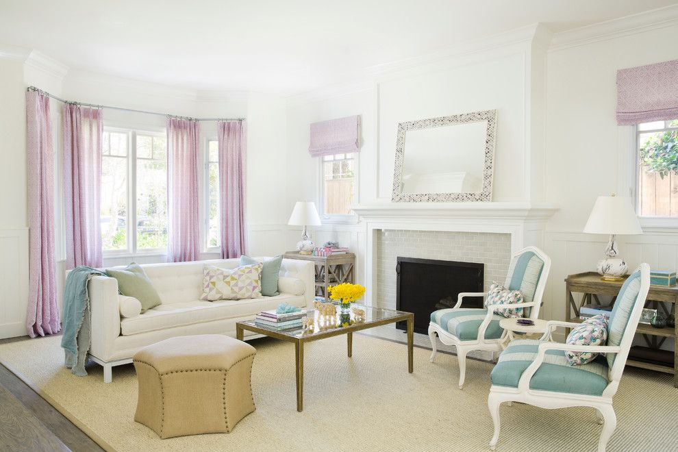 Santa Paula Regency for a Beach Style Living Room with a Pastels and Santa Monica Coastal Cape Cod Home by Christine Markatos Design