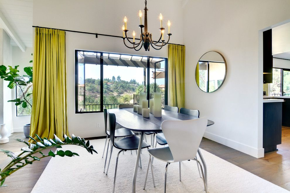 Santa Paula Regency for a Contemporary Dining Room with a White Area Rug and Rancho Santa Fe Modern Hacienda by Shaw Coates
