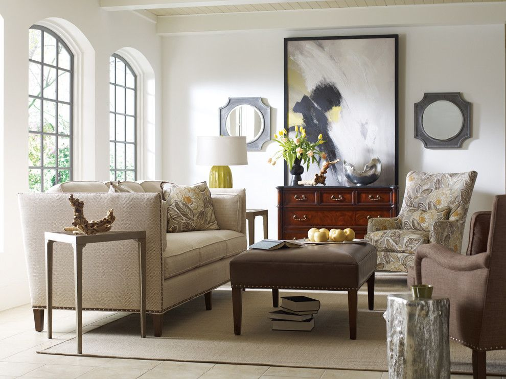 Santa Paula Regency for a Transitional Living Room with a Paneled Ceiling and Luscious Living Room by Pt Designs Inc. Paula Tranfaglia   Decorating Den