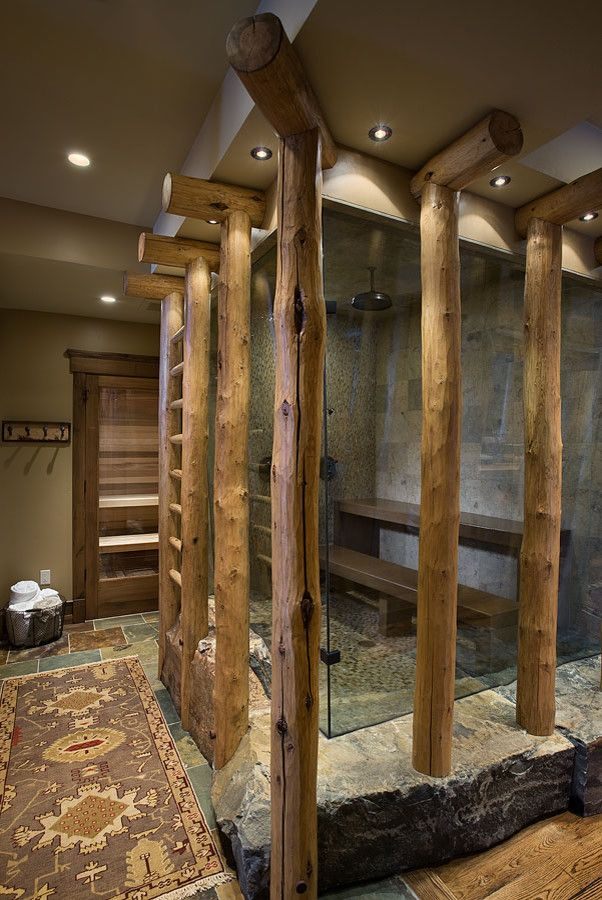 Sauna vs Steam Room for a Eclectic Bathroom with a Glass and Eclectic Bathroom by Dainteriors.com