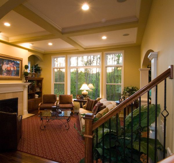 Savers Woodbury Mn for a Traditional Family Room with a Beamed Ceiling and Royal Oaks Design, Inc. by Kieran J. Liebl,  Royal Oaks Design, Inc. Mn