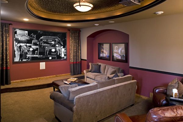 Savers Woodbury Mn for a Traditional Home Theater with a Traditional and Royal Oaks Design, Inc. by Kieran J. Liebl,  Royal Oaks Design, Inc. Mn