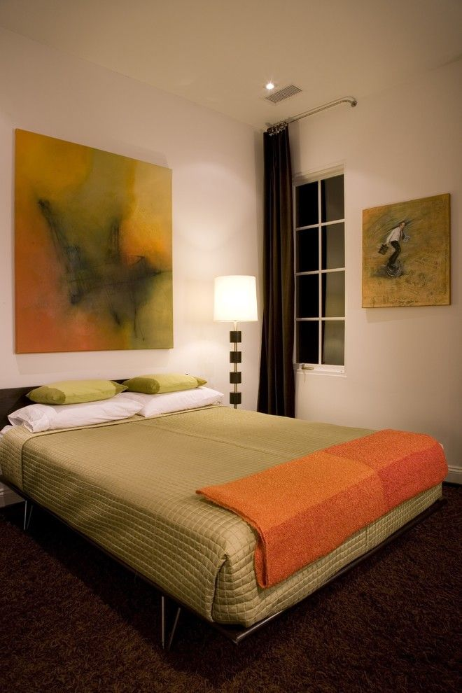 Schaefers for a Contemporary Bedroom with a Floor Lamp and Forma Design by Forma Design