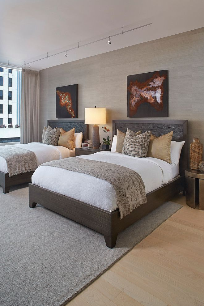 Schaefers for a Transitional Bedroom with a White Bedding and Transitional Bedroom by Henderson.house