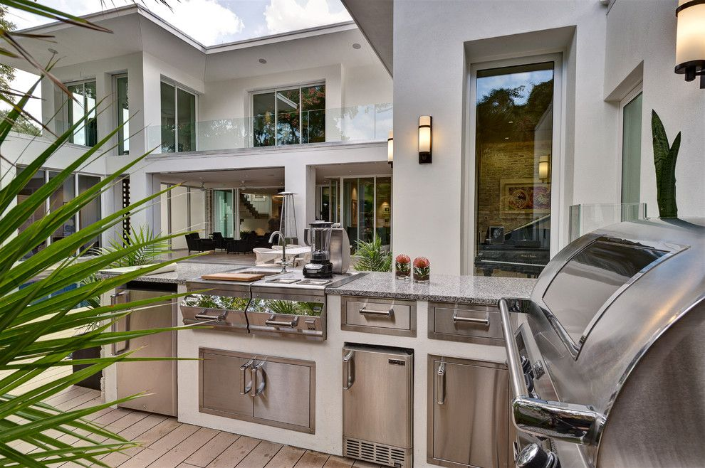 Sconce Definition for a Contemporary Patio with a Outdoor Kitchen and 2012 New American Home by Phil Kean Designs