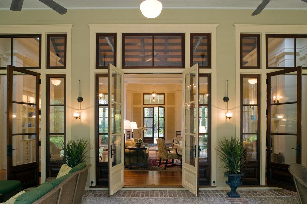 Sconces Definition for a Traditional Entry with a French Doors and West Indies Meets Lowcountry by Historical Concepts