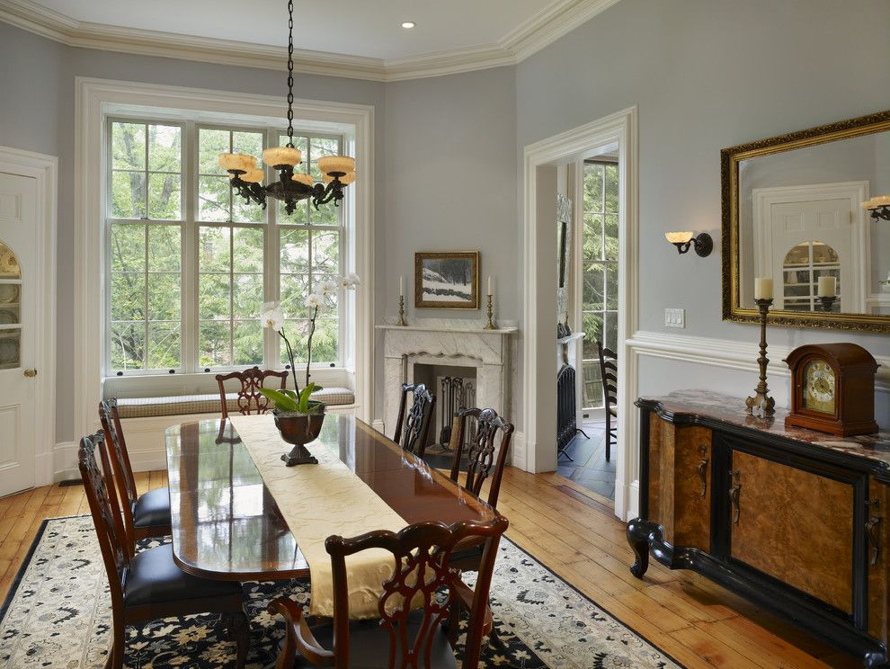 Scotch Hall Preserve for a Traditional Dining Room with a Crown Molding and Wyndmoor Residence Dining Room by Hanson Fine Building