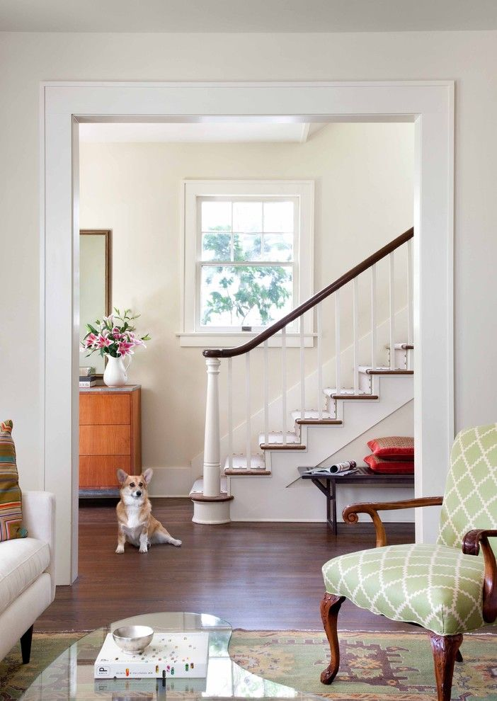 Scotch Hall Preserve for a Traditional Staircase with a Chest of Drawers and Renovation by Tim Cuppett Architects