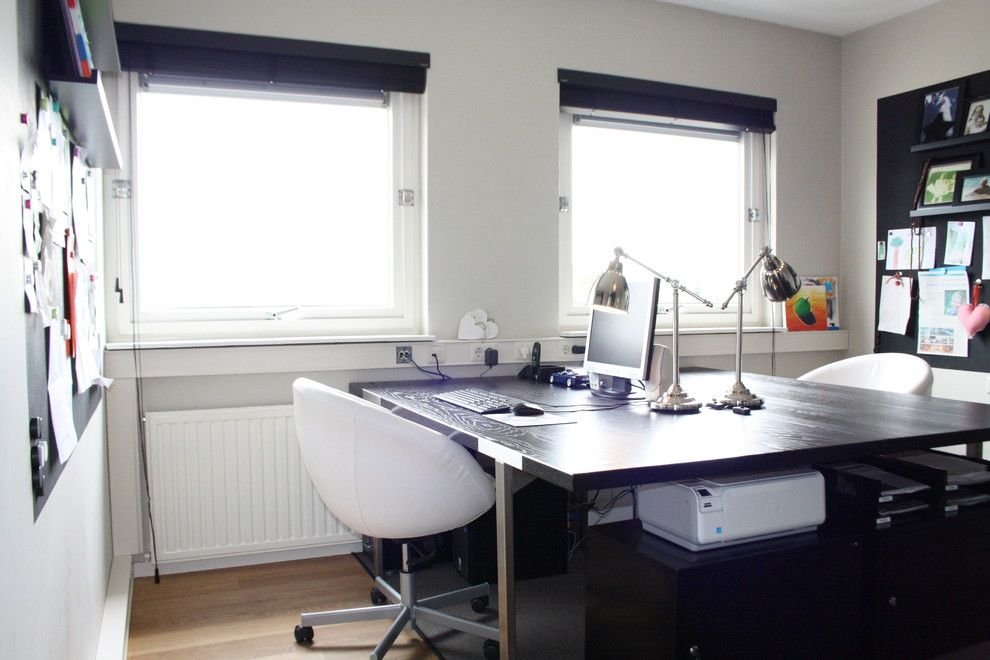 Scott Felder Homes for a Contemporary Home Office with a Contemporary and My Houzz: Country Chic Family Home in the Netherlands by Holly Marder