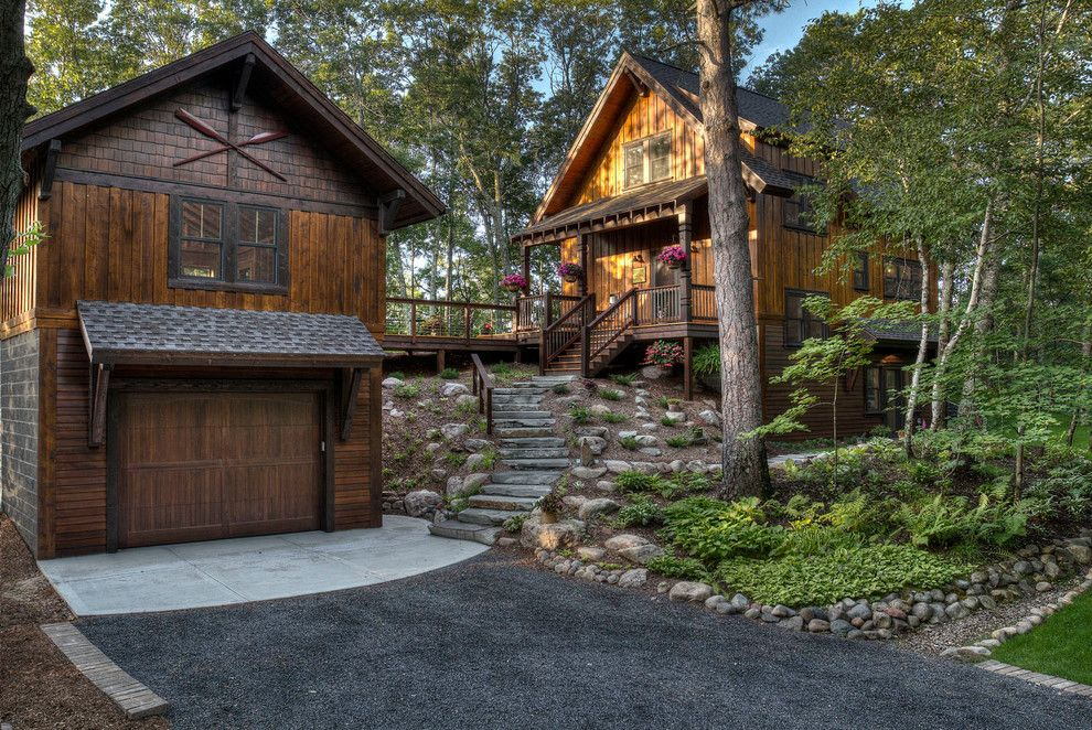 Scott Felder Homes for a Rustic Exterior with a Cabin and Kimball Lake by Lands End Development   Designers & Builders