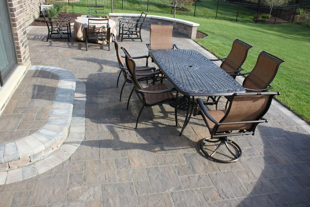 Scotts Lawn for a Traditional Spaces with a Paving and Paver Jobs by Infinity Lawn & Landscaping Inc