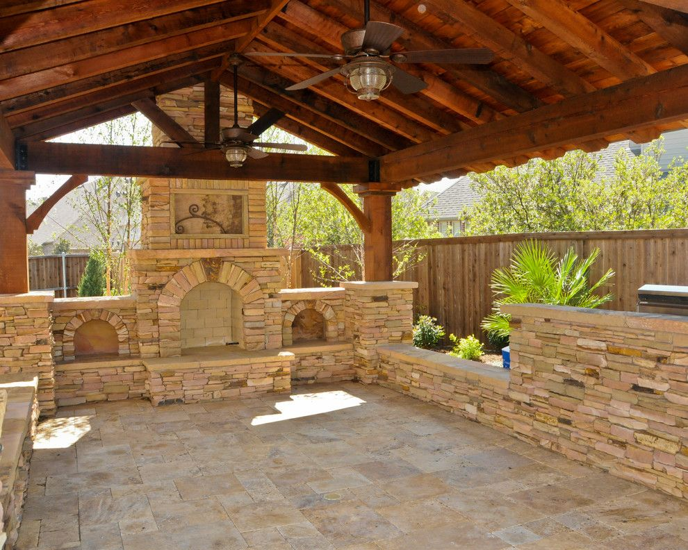Scotts Lawn Service for a Traditional Patio with a Overhead Structure and Overhead Structure/grilling Station/fireplace by Weisz Selection Lawn & Landscape Services, Inc.