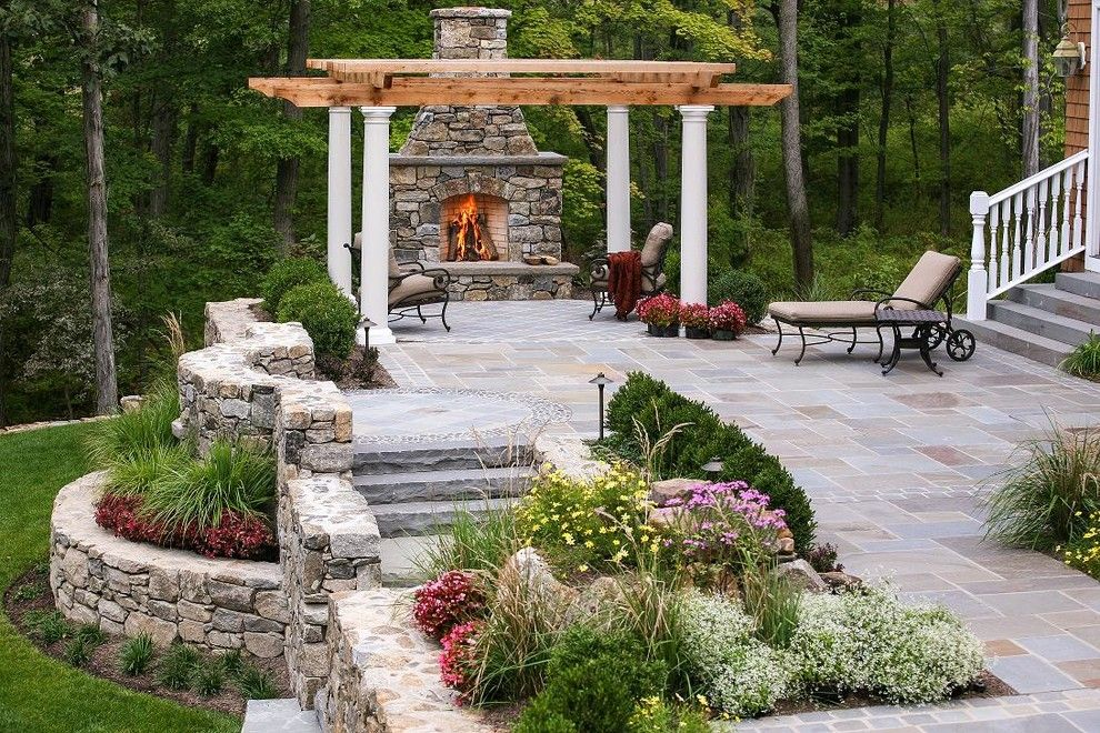 Scotts Lawn Service for a Traditional Patio with a Verandas and New Jersey Garden Structures by Landscape Aesthetics, Inc