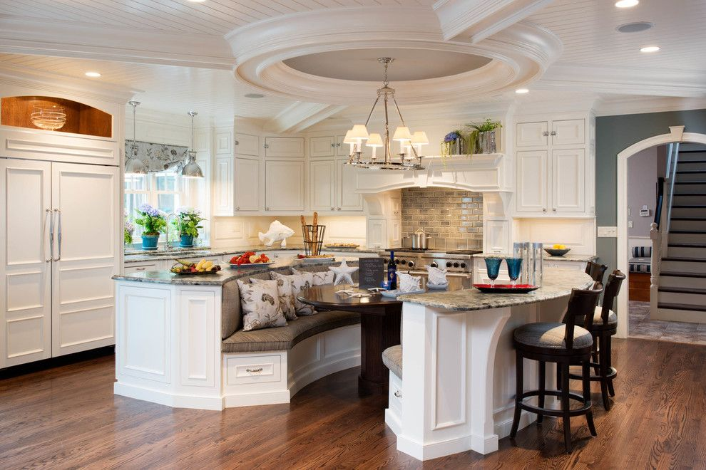 Seabrook Island Sc for a Traditional Kitchen with a Freestanding Banquette Seating and Project 1 by L. Newman Associates/paul Mansback, Inc.