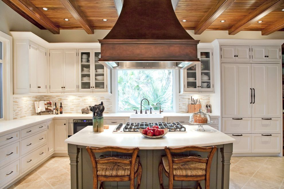 Seabrook Island Sc for a Traditional Kitchen with a White Painted Cabinets and Elegant Traditional Kitchen Beaded Inset by Strathmore Floors