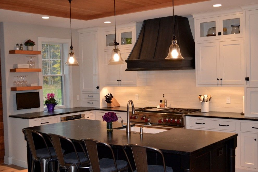 Seamless Sf for a Transitional Kitchen with a Award Winning Kitchen and 2015 Nkba Design Award, Best New Kitchen 150sf+ by Columbia Cabinets