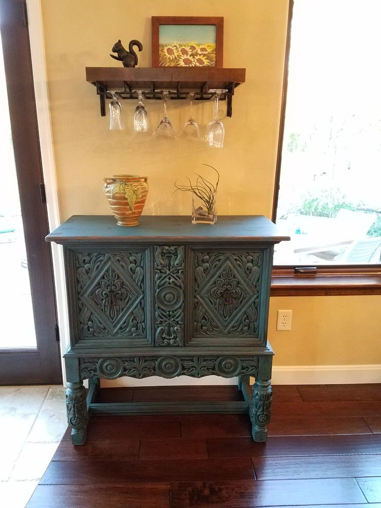 Sears Bloomington Il for a Traditional Dining Room with a Hardwood Flooring and French Country Cabinet   Up Cycled Painted Cabinet by Upcycled Woods